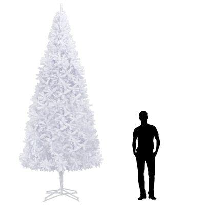 vidaXL Umelý vianočný stromček 400 cm, biely