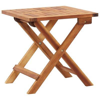 vidaXL Skladací záhradný konferenčný stolík 40x40x40 cm akáciový masív