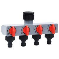 vidaXL Záhradný automatický časovací 4-cestný ventil