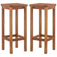 vidaXL Barové stoličky 2 ks, akáciový masív