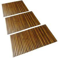 Kúpeľňová podložka z akáciového dreva 80x50 cm 3 ks