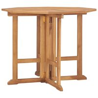 vidaXL Skladací záhradný jedálenský stôl 90x90x75 cm tíkový masív