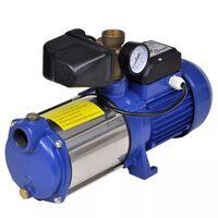 Prúdové čerpadlo s manometrom, 1300 W 5100 L/h, modré