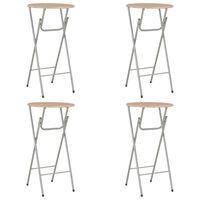 vidaXL Barové stoly 4ks farba duba 60x112 cm MDF