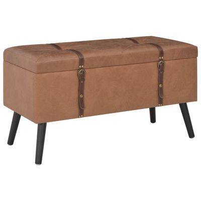 vidaXL Úložné stoličky 3 ks hnedé umelá koža