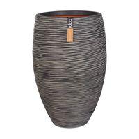 Capi Kvetináč elegantný antracitový 45x72 cm Nature Rib Deluxe