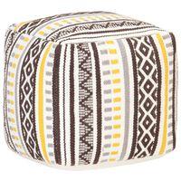 vidaXL Taburetka pletený dizajn viacfarebná 45x45x45 cm bavlnená