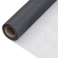vidaXL Sieť proti hmyzu sklené vlákno 112x1000 cm sivá