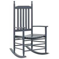 vidaXL Hojdacie kreslo so zaobleným sedadlom, sivé, topoľové drevo
