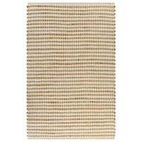vidaXL Ručne tkaný jutový koberček prírodný a biely 120x180 cm