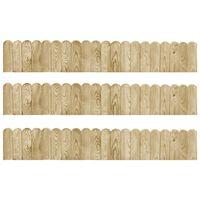vidaXL Trávnikové lemy 3ks 120 cm impregnované borovicové drevo