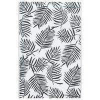 vidaXL Vonkajší koberec bielo-čierny 160x230 cm PP