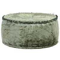 vidaXL Okrúhla taburetka zelená 40x20 cm zamatová