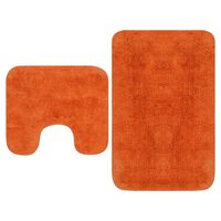 vidaXL Sada látkových kúpeľňových podložiek 2 ks oranžová