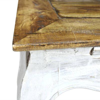 vidaXL Príručný stolík z masívneho recyklovaného dreva 50x50x35 cm