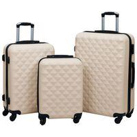 vidaXL Súprava cestovných kufrov s tvrdým krytom 3 ks zlatá ABS