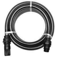 vidaXL Sacia hadica s konektormi 4 m 22 mm čierna