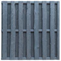 vidaXL Plotový panel, borovica 180x180 cm, sivý