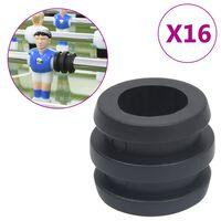vidaXL Zarážky na 15,9/16 mm tyč pre stolný futbal 16 ks