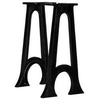 vidaXL Nohy na lavičku 2 ks, zaoblený rám v tvare A, liatina
