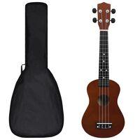 """vidaXL Sopránové ukulele s taškou pre deti tmavé drevo 23"""""""