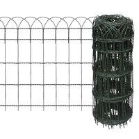 vidaXL Záhradné oplotenie, železo s práškovou úpravou 10x0,65 m