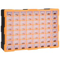 vidaXL Organizér so 64 zásuvkami 52x16x37,5 cm