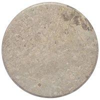 vidaXL Stolová doska sivá Ø60x2,5 cm mramor