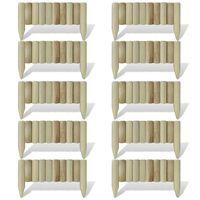 vidaXL Záhradné palisády z polien, panely 10 ks, drevo 60 cm