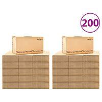 vidaXL Kartónové krabice na sťahovanie XXL 200 ks 60x33x34 cm