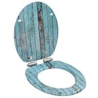 vidaXL WC sedadlo s pomalým sklápaním MDF dizajn starého dreva