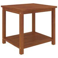 vidaXL Odkladací stolík z akáciového dreva 45x45x45 cm
