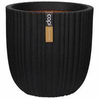 Capi Kvetináč v tvare vajca Urban Tube 43x41 cm čierny KBLT933