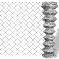 vidaXL Drôtené pletivo, pozinkovaná oceľ 25x0,8 m, strieborné