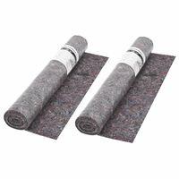 vidaXL Ochranný koberec, fleece, 2 ks, 50 m, 180 g/m², sivý