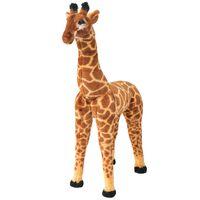 vidaXL Stojaca plyšová hračka, žirafa, hnedo-žltá, XXL