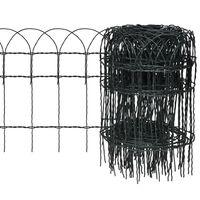 vidaXL Záhradné oplotenie, železo s práškovou úpravou 25x0,4 m
