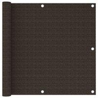 vidaXL Balkónová markíza hnedá 90x400 cm HDPE