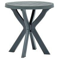 vidaXL Bistro stolík zelený priemer 70 cm plast