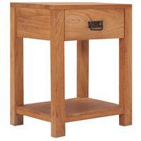 vidaXL Nočný stolík 35x35x50 cm teakový masív