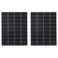 vidaXL Solárne panely 2 ks hliník a bezpečnostné sklo 100 W monokryštalický