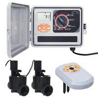 vidaXL Regulátor zavlažovania so senzorom vlhkosti a solenoidným ventilom
