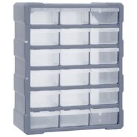 vidaXL Organizér s 18 strednými zásuvkami 38x16x47 cm