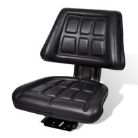 vidaXL Traktorové sedadlo s operadlom, čierne