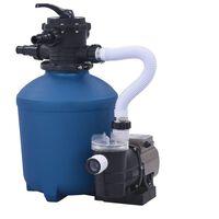 vidaXL Pieskové filtračné čerpadlo s časovačom 530 W 10 980 l/hod