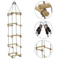 vidaXL Detský lanový rebrík 200 cm drevený