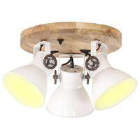 vidaXL Industriálna stropná lampa 25 W, biela 42x27 cm E27