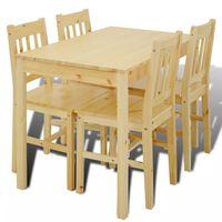 Drevený jedálenský stôl so 4 stoličkami