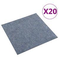 vidaXL Podlahové kobercové dlaždice 20 ks 5 m², modré