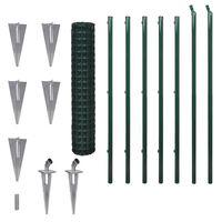 vidaXL Euro plot, oceľ 10x1,7 m, zelený